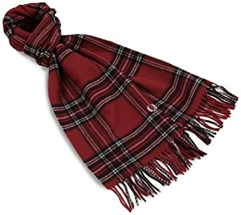 Fred Perry Men's Tartan Lamora Scarf, Brass, One Size