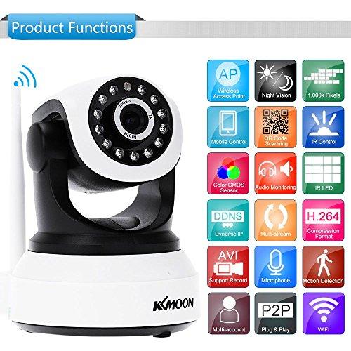 KKmoon H. 264 HD 720p 2,8-12 mm Autofokus PTZ Wireless WiFi IP Kamera Security CCTV-Kamera-Startseite-Videoüberwachung
