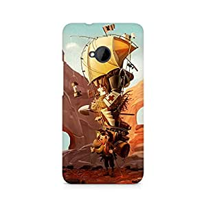 Mobicture Cartoon Premium Printed Case For HTC One M7