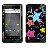 MOTOROLA A955 (Droid 2) Chalkboard Star Black Phone Protector Cover Case