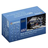 Christmas Workshop 87870 480 LED Snowing Icicle Lights - Blue/White by Benross Group