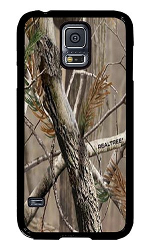 Samsung S5 Case AOFFLY Camouflage Camo Tree Black Hard Case for Samsung S5