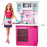 Barbie Doll And Kitchen Furniture Set, Multi Color