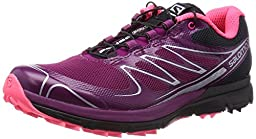 Salomon Sense Pro Shoe - Women\'s Mystic Purple / Black / Fluo Pink 6.5