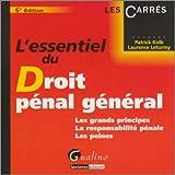 echange, troc Patrick Kolb, Laurence Leturmy - L'essentiel du droit pénal général