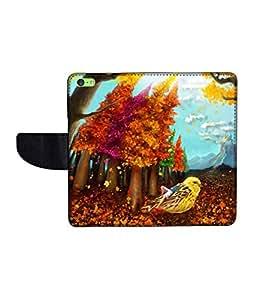KolorEdge Printed Flip Cover For Apple IPhone 5C -Multicolor (43KeMLogo10692IPhone5C)