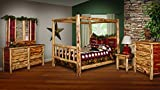 Red Cedar Log KING SIZE 5 pc Bedroom Furniture Set - Amish Made in USA