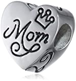 Disney Stainless Steel MOM My Home is My Castle Heart Bead Charm