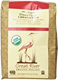 Great River Organic Milling 100% Organic Bread Flour Unbleached Wheat, 5 Pound Bags (Pack of 4)