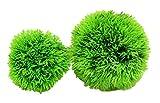 edunamay 手軽に 水槽 アクアリウム 人工 水草 ボール 2個 セット (小/6cm&大/10cm)