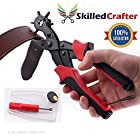 Leather Hole Punch - Professional Heavy Duty - Easily Punches Perfect Round Holes - Revolving Multi Sized Puncher Pliers - Ideal for Belts, Crafts, Card, Plastic, Felt, Rubber etc - Quality Guaranteed