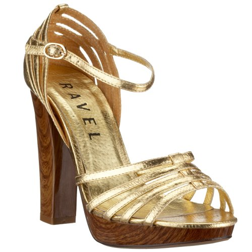Ravel Women's Carolyn Gold snake RLP566 5 UK