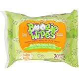 Boogie Wipes Natural Saline Kids and Baby Nose Wipes for Cold and Flu, Fresh Scent, 30 Count (Pack of 6)