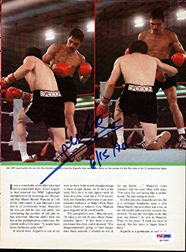 Alexis Arguello Autographed/Hand Signed Magazine Page Photo PSA/DNA #S47445