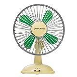 グリーンハウスUSB扇風機 クラッシックグリーンGH-USB-FANCG