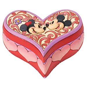Jim Shore Disney Mickey And Minnie Mouse Love Keeper Heart Box