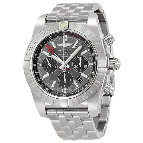 Breitling Chronomat 44 Grey Dial Stainless Steel Mens Watch AB042011-F561SS
