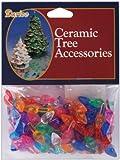 "Ceramic Christmas Tree Bulb .5"" 100/Pkg-Small Flame-Multi"