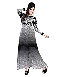 My online Shoppy Women's Georgette Semi Stitched Dress Material (My online Shoppy_131_Multi-Coloured_Free Size)