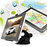 7-Zoll-TFT-Display-Auto-KFZ-RAM128MB-MTK-GPS-Navigationsgert-4GB-Ganz-europa-Map