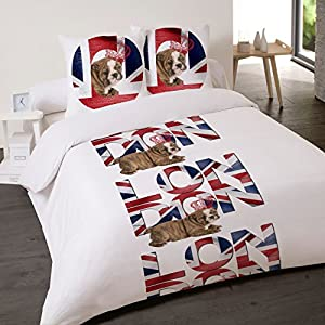 Housse de couette montana in london 220x240 et 2 taies for Housse de couette london 220x240