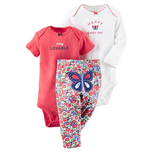 610f42cf5 Carter's Baby Girls' 3 Piece Take Me Away Set (Baby) - Happy - Import It All