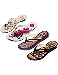 Krocs Super Comfortable Combo Pack Of 2 Pair Flip Flop With 2 Pair Slippers For Women (Pack Of 4 Pair) - B01JS6U0YC