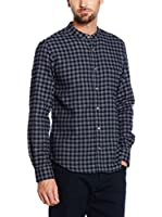 Cortefiel Camisa Hombre Camisa Leñadora Cuadro Gr (Azul Oscuro)