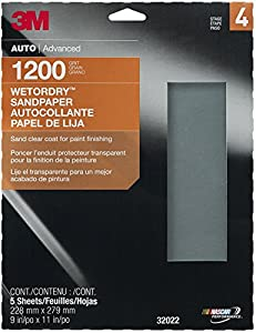 """3M 32022 Imperial Wetordry 9"""" x 11"""" 1200 Grit Sheet"""
