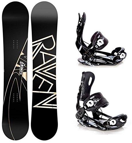 Snowboard Set: Snowboard Raven Element Carbon + Bindung Raven Fastec FT270 Black L
