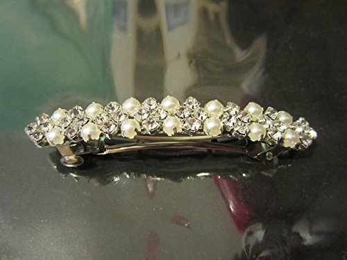 Crystal Rhinestone Pearl Hair Barrette Hair Clip 80mm 3inch Hair pin Hair accessory 1pc
