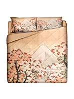JAPAN MANIA by MANIFATTURE COTONIERE Edredón Fuji Maquillaje/Multicolor Cama 90 (180 x 260 cm)