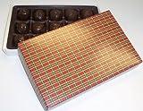 Scott's Cakes Chocolate Pecan Fudge Truffles 1 lb. Christmas Plaid Box