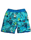 Bunz Kidz – Baby Boys Pirate Ships Swimsuit, Aqua, Turquoise 35001-18Months