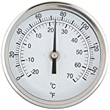 PIC Gauge B3B2-EE Stainless Steel Bimetal Thermometer with Back Connection, 3