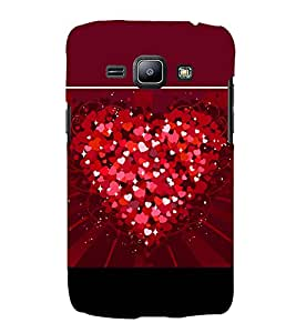 Heart of Hearts 3D Hard Polycarbonate Designer Back Case Cover for Samsung Galaxy J1 2016 :: Samsung Galaxy J1 2016 Duos :: Samsung Galaxy J1 2016 J120F :: Samsung Galaxy Express 3 J120A :: Samsung Galaxy J1 2016 J120H J120M J120M J120T