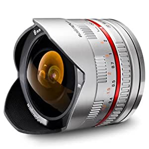 Fish-Eye walimex pro 8/2,8 pour monture Sony E argent