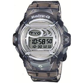 Casio Women's Baby-G Grey Jelly Shock Resistant Sports Watch #BG169-8V