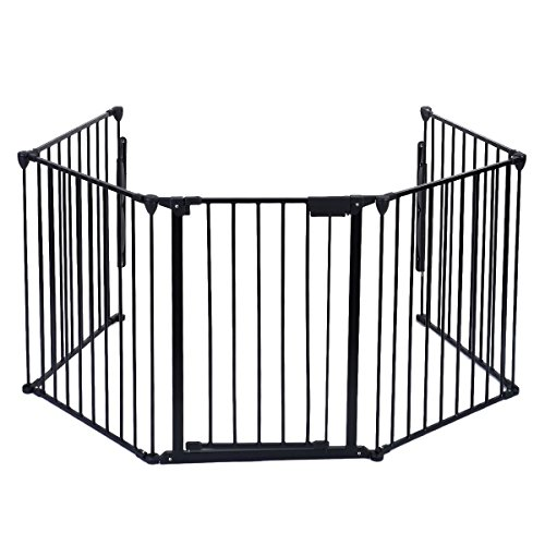 Fireplace Fence Baby Safety Fence Hearth Gate BBQ Metal Fire Gate Pet Dog Cat (Wood Stove Floor Guard compare prices)