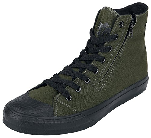 Black Premium by EMP Zip Sneaker Scarpe verde oliva EU46
