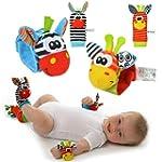 YISET Infant Baby Soft Toy Wrist Ratt...