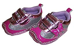 Rising Star Pink Butterfly Sneakers Size 9-12 Months [3012]