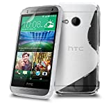 HTC One Mini 2 Clear S Line Silicone Transparent Grip Series Wave Gel Case Skin Cover Screen Protector & Polishing Cloth BY SHUKAN