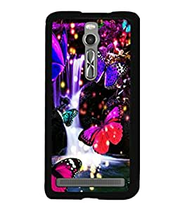 printtech Butterfly Waterfall Back Case Cover for Asus Zenfone 2 , Asus Znfone 2 ZE550ML