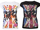 Womes Tops Ladies T Shirts One Direction Union Jack Harry Styles Zayn Malik Liam Payne Louis Tomlinson Niall Horan Kiss You Gig