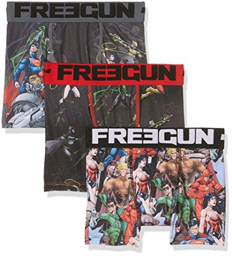 Freegun Justice League Pack x3, Boxer Bambino, Mehrfarbig (Multicolor A1), 12 anni ( pacco da 3 )