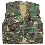 Los niños del ejército camuflaje Multi bolsillo del chaleco - Se adapta a las edades 3-14 ( 5-6 años )