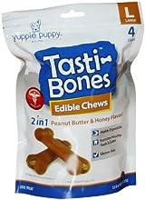 Sporn Products 4-Count, Large Tasti-Bones Pet Treat, Peanut Butter/Honey