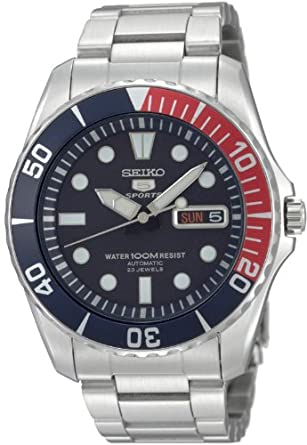 Seiko Men's SNZF15 Seiko 5 Automatic Blue Dial Stainless-Steel Bracelet Watch