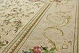 おしゃれ な 花柄 薄型 ラグ アルダ マスターゴールド(ベージュ) 約 240×240 cm 約 4.5畳 ゴブラン織り カーペット 折りたたみ 可能 ホットカーペットカバー 対応